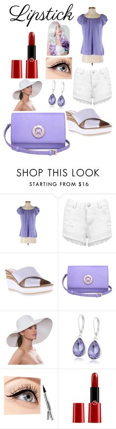 """""""Rue's 3rd casual outfit"""" by shirowland ❤ liked on Polyvore featuring beauty, Dressbarn, Miss Selfridge, Azura, Metrocity, Eric Javits, Nine West, Luminess Air, Giorgio Armani and Leg Avenue"""