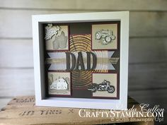 Stamp It Group 2018 Father's Day Blog Hop | Stampin Up Demonstrator Linda Cullen | Crafty Stampin' | Purchase your Stampin' Up Supplies | Heartland Stamp Set  | One Wild Ride Stamp Set | Tuscan Vinyard stamp set | Wood Words Designer Series Paper  | Large Letters Framelits Dies | Burlap Ribbon