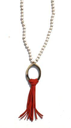 Sheaffer Suede Tassel Necklace