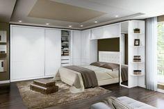 decoração de quarto de casal pequeno e moderno - Pesquisa Google