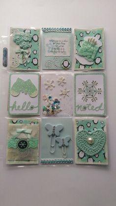 Pocket Letters ❤ Winter Wonderland Pocket letter Pocket Pal, Pocket Cards, Atc Cards, Journal Cards, Project Life, Pocket Envelopes, Pocket Scrapbooking, Letter A Crafts, Candy Cards