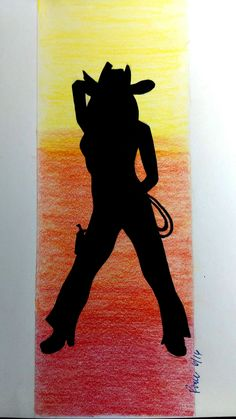 9 x 3 Cowgirl Silhouette