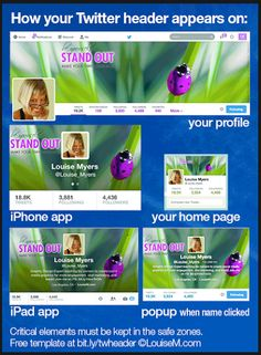 Have you checked your Twitter Header on mobile vs. desktop? Great template and infographic from LouiseM