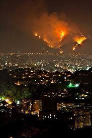 Big Fire in Cerro el Avila Caracas