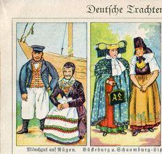 German Ethnic Dress History of Clothing by AntiquePrintsAndMaps