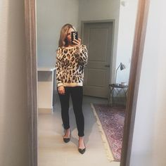 Target find of the week- this amazing leopard sweater!