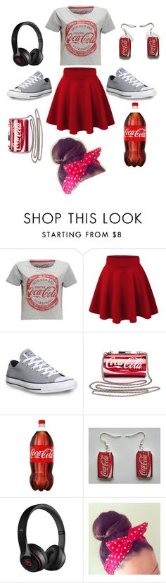 """""""Coca cola"""" by nosaj14 ❤ liked on Polyvore featuring Converse and Beats by Dr. Dre"""