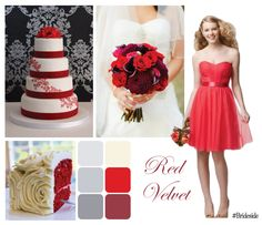 Red Velvet wedding inspiration board showcasing Style 659 from Wtoo by Watters. Strapless Sweetheart Neckline, Strapless Dress Formal, Formal Dresses, Dress Wedding, Wedding Bells, Perfect Wedding, Our Wedding, Red Bridesmaid Dresses, Wedding Inspiration