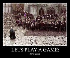 Luna Lovegood - Harry Potter fun - Battle of Hogwarts outfit - LOL Memes Do Harry Potter, Fans D'harry Potter, Harry Potter Fandom, Harry Potter World, Potter Facts, Harry Potter Stuff, Harry Potter Images, Harry Potter Films, Luna Lovegood