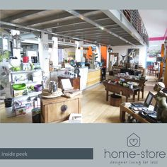 An inside peek at Home-Store - our upstairs and downstairs are both brimming with wonderful unique finds that you will love!