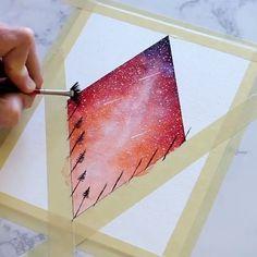 Watercolor tape idea