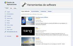 El Centro de Aplicaciones de Facebook para web, iOs y Android