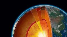 New measurements suggest the Earth's inner core is far hotter than prior experiments suggested, putting it at - as hot as the Sun's surface. The Earths solid inner core is surrounded by a fast-moving liquid core, giving rise to the planets magnetic field Earth And Space Science, Earth From Space, Science Nature, Science Facts, Science News, Science Lessons, Apologia Physical Science, Earth Layers, Learn Something New Everyday