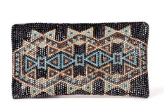 Iruala Clutch from the #SilviaTcherassi Wayúu Collection. Crystallized with Swarovski Crystals.