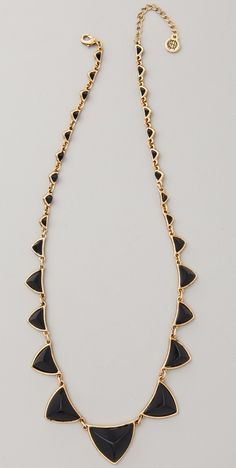 House of Harlow 1960 Pyramid Station necklace.