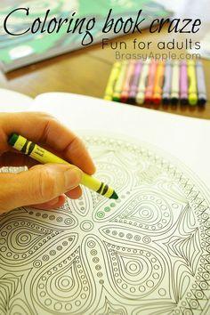 adult coloring book FUN - brassyapple