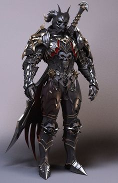 m Anti-Paladin CE Reaper of the Red minion Plate Armor Helm 2 Handed Sword
