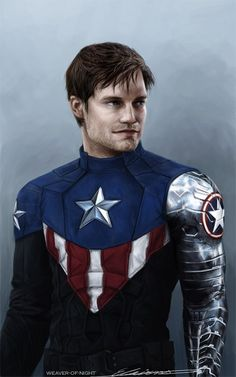 okay but what if MCU Bucky Cap tho (his uniform is based off of this one he wore in the comics if you're interested) <--- Ahh! This will make Civil War so much more bearable! Captain America Costume, Captain America And Bucky, Marvel Comic Universe, Comics Universe, Marvel Heroes, Marvel Dc, Steven Grant Rogers, Steve Rogers, Oh Captain My Captain