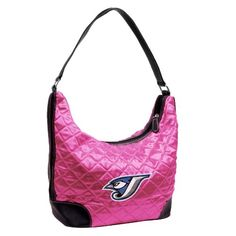 Toronto Blue Jays Pink Quilted Hobo Purse