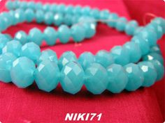 Aqua Faceted Beads #1593. Starting at $4 ROOM IS OPEN SAT DEC 7 @ 7 PM EST – Lots of New Goodies Tonight - Come join us! http://tophatter.com/auctions/36446