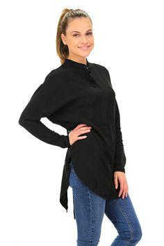 Kocca - Camicie - Abbigliamento - Camicia a manica lunga in viscosa. Collo alla coreana, spacco sulla schiena.La nostra modella indossa la taglia /EU XS. - 00016 - € 95.00