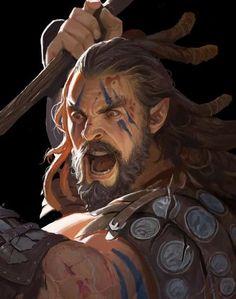 Game Character Design, Fantasy Character Design, Character Concept, Character Art, Concept Art, Fantasy Art Warrior, Fantasy Male, High Fantasy, Fantasy Portraits
