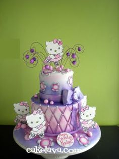Hello Kitty ballerina cake @Jenny McDermond For your next bday? ;)