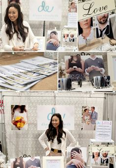 Cute ideas for the bridal show booth