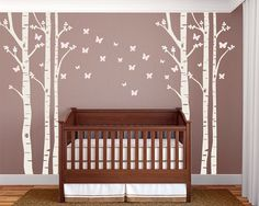 Nursery Butterfly Wall Decals on a Birch Tree Stickers by Katazoom, $99.00