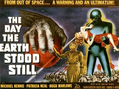 1951 sci-fi cult classic The Day The Earth Stood Still with Michael Rennie and Patricia Neal.