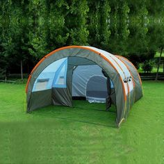 480*310*210cm Large Doule Layer Tunnel Tent Up To 5-8 Person | Features: Camping, Hiking, Fishing, Survival