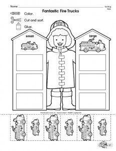 community helpers cut-paste worksheet (10) | Crafts and Worksheets for Preschool,Toddler and Kindergarten