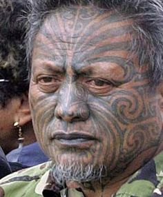 Tattooing is a sacred art among the Maori people of New Zealand. Both Maori men and women wore face tattoo known as moko. Warriors tattooed their entire face as well as their thighs and buttocks.