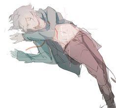 shsl lucky, white hair, and anime boy cute image