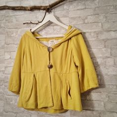 Anthropologie jacket Adorable yellow jacket from anthropologie in great condition.  I am a top-rated seller and fast-shipper .                                             No trades. Please use the offer button to submit offers Anthropologie Jackets & Coats