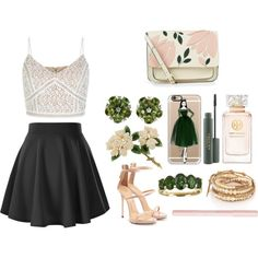 A fashion look from May 2016 by airladysory featuring New Look, Giuseppe Zanotti, Accessorize, Valentin Magro, Chan Luu, Casetify, Bourjois и Tory Burch