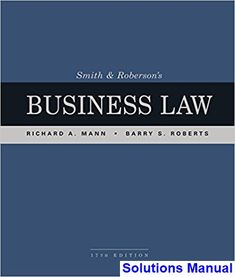 Free download principles of economics 8th edition a best selling solutions manual for smith and robersons business law 17th edition by mann ibsn 9781337094757 fandeluxe Image collections