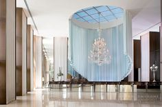 Lobby at ICON condominiums. Interior by Phillipe Starck. Architecture by Sieger Suarez Architectural Partnership, Miami