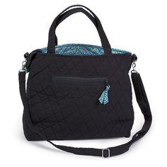 @WorldCrafts {Majestic Thai Purse ~ Thai Country Trim ~ Thailand} Neutral black, quilted purse lined with one-of-a-kind blue and gold Thai fabric. Hand-sewn by artisans at Thai Country Trim in Thailand by battered women who are receiving emotional and financial support through making these products. #fairtrade #supportfreedom
