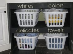 Love this idea! What do you think? #seperate #organized #laundry