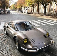 Classic Car News Pics And Videos From Around The World Ferrari Dino, Ferrari Car, Lamborghini, Super Sport Cars, Super Cars, Classic Motors, Classic Cars, Sexy Cars, Hot Cars