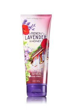 French Lavender & Honey - Ultra Shea Body Cream - Signature Collection - Bath & Body Works - Infused with luxuriously rich Shea Butter, our New Ultra Shea Body Cream provides 24 hours of nourishing moisture to soften even the driest skin. With soothing Aloe Butter, pampering Cocoa Butter and more Shea than ever before, our non-greasy formula melts into skin to provide beautiful fragrance and all day, all night hydration.