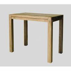 table haute blanche et naturelle h90cm blanc / naturel - buluh ... - Chaise Haute Pour Mange Debout