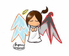 half angel half devil angel with a devil side Angel Devil Tattoo, Angel And Devil, Pearl Tattoo, I Tattoo, Half Angel Half Demon, Period Humor, Time Tattoos, Potpourri, Recherche Google