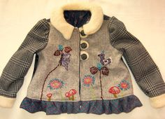 folkloric wool jacket with hand embroidered fronts.