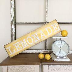 Lemonade Sign - Lemonade Stand Sign - Lemonade Decor - Lemonade Party Decor - Lemonade Theme - Summer Decor - Summer Wood Sign - Summer Sign