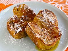 Challah French Toast - Fluffy, Light French Toast Recipe (Challah makes the BEST French Toast! Fluffy French Toast, Challah French Toast, Brunch Recipes, Breakfast Recipes, Breakfast Ideas, Dessert Recipes, Desserts, Dairy Free French Toast, Classic French Dishes