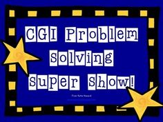 CGI-Style Math Problem Solving Show! 100% editable word problems! 100% AWESOME! - Howywood Kindergarten - TeachersPayTeachers.com