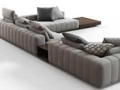 Minotti Freeman Corner Sofa System N computer generated model. Produced by Design Connected.