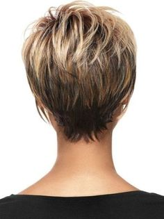 Hair Beauty - Women Blonde Ombre Inclined Bang Fluffy Short Straight European American Synthetic Wig - One Size Short Layered Haircuts, Short Hairstyles For Women, Hairstyles Haircuts, Wedge Hairstyles, Haircut Short, Stacked Hairstyles, Medium Thin Hairstyles, Short Hair Cuts For Women With Bangs, Hairstyles For Fine Thin Hair